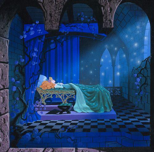 Sleeping beauty spindle scene